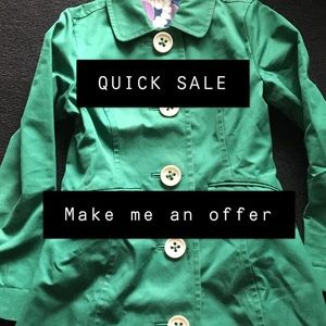 QUICK SALE • BODEN • GREEN TRENCH COAT